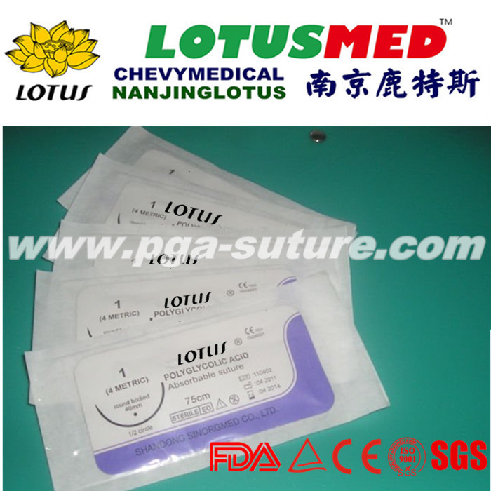Medical PGAR Surgical Sutures  With needle