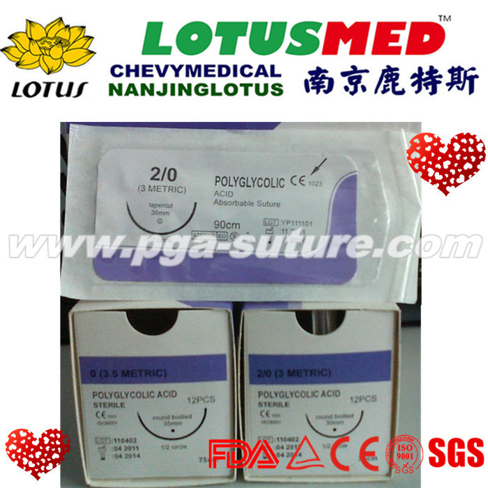 PGAR Surgical Sutures  With needle