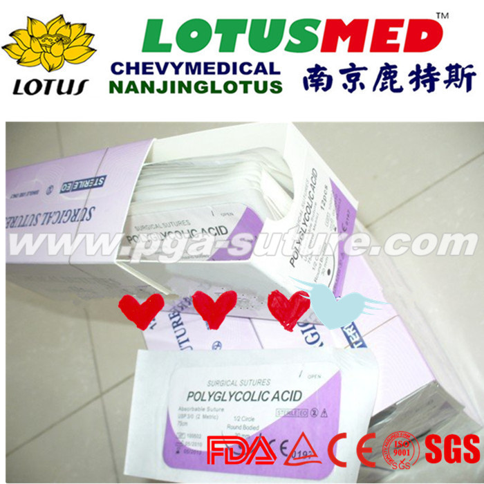 LOTUSMED Suture PGAR Surgical Sutures With Needle