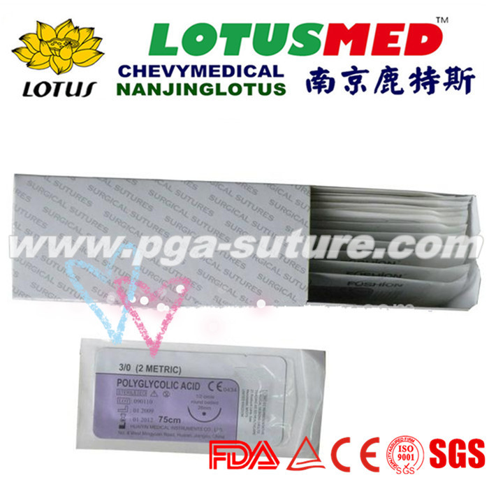 Surgical Suture Polyglycolic Acid Rapid Suture