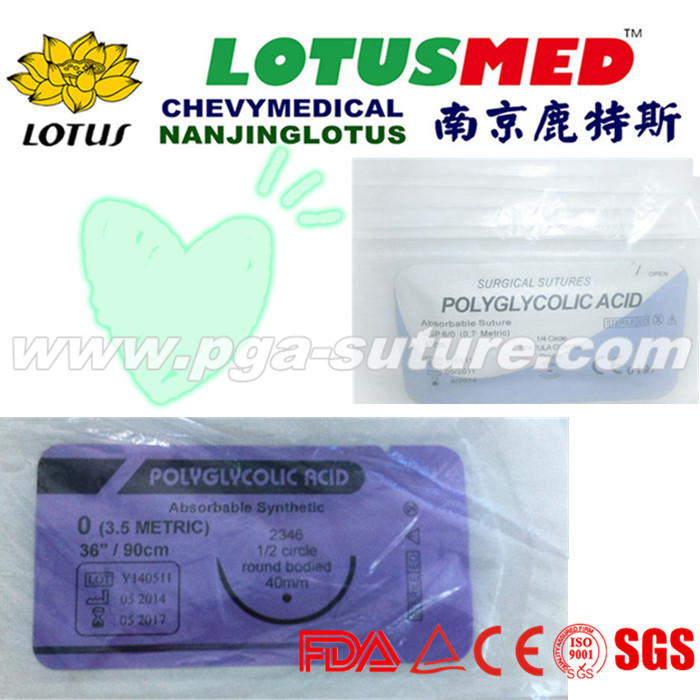 Human Use Medical Polyglycolic Acid Rapid Suture