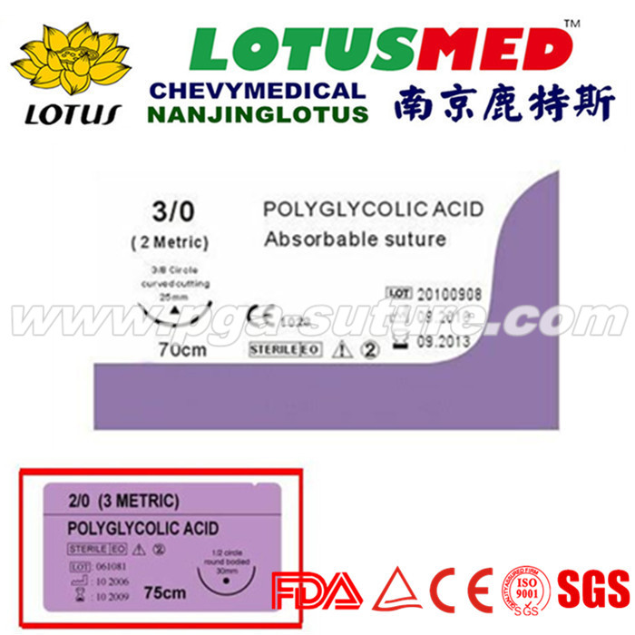 Medical Polyglycolic Acid Rapid Surgical Suture Pr...