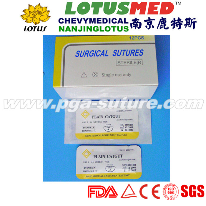 Disposable Natural Absorbable Chromic and plain ca...