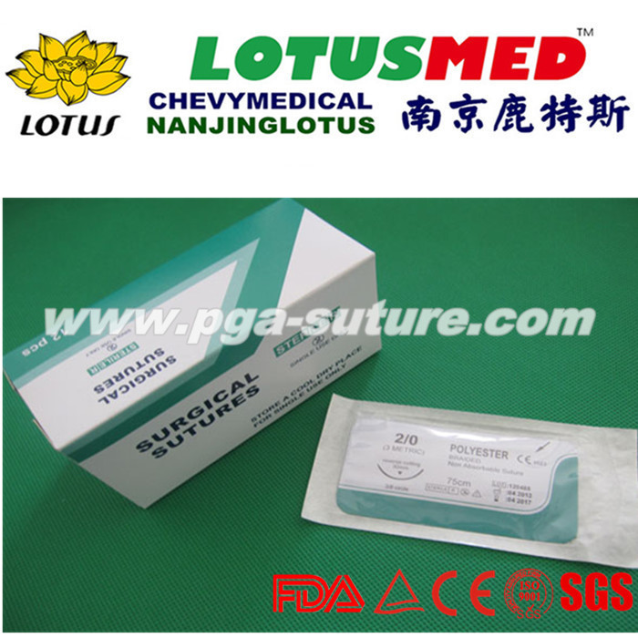 LOTUSMED Veterinary Polyester Braided Suture