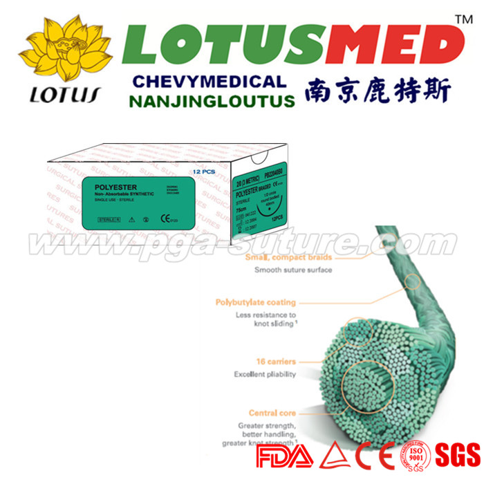 LOTUSMED Polyester Braided Suture