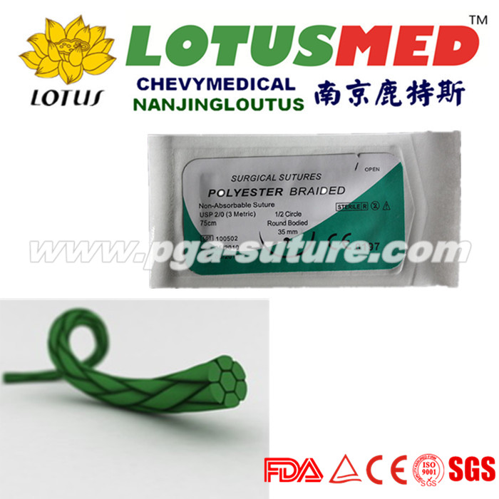 LOTUSMED Sterile Polyester Braided Suture Pack