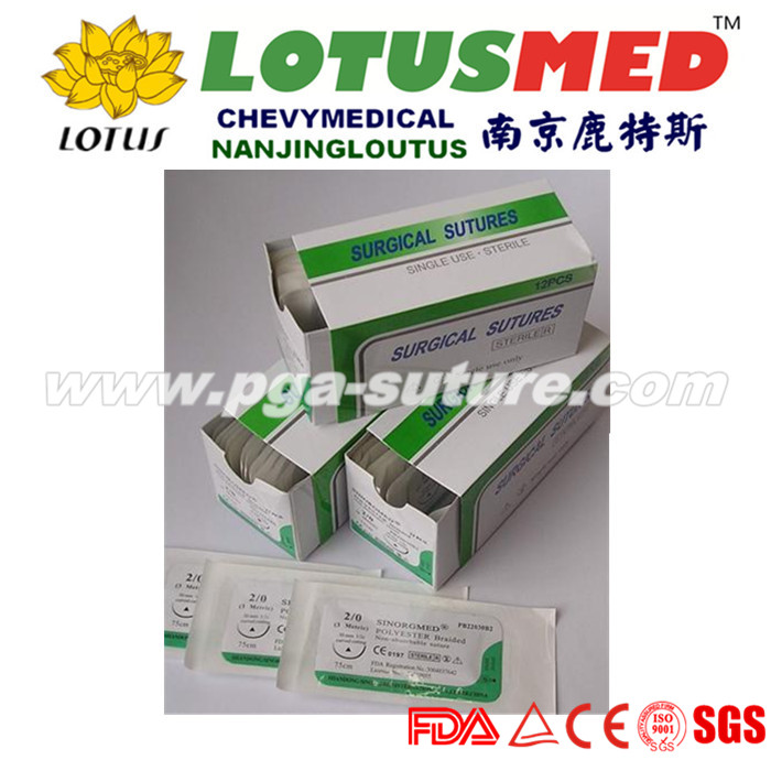LOTUSMED 3d Polyester Braided Suture