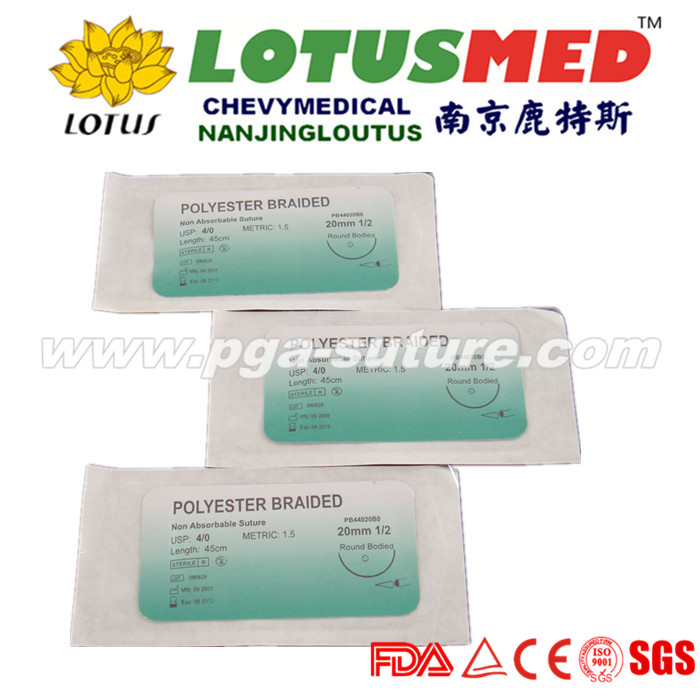 LOTUSMED Liquid Polyester Braided Suture