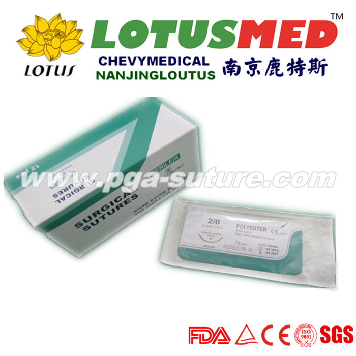 LOTUSMED Ethico Polyester Braided Suture