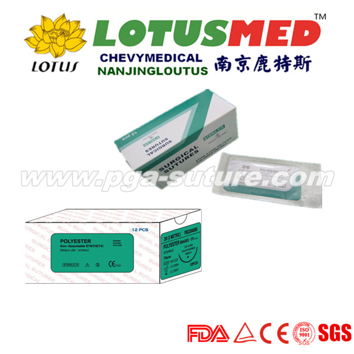LOTUSMED Biodegradable Polyester Braided Suture