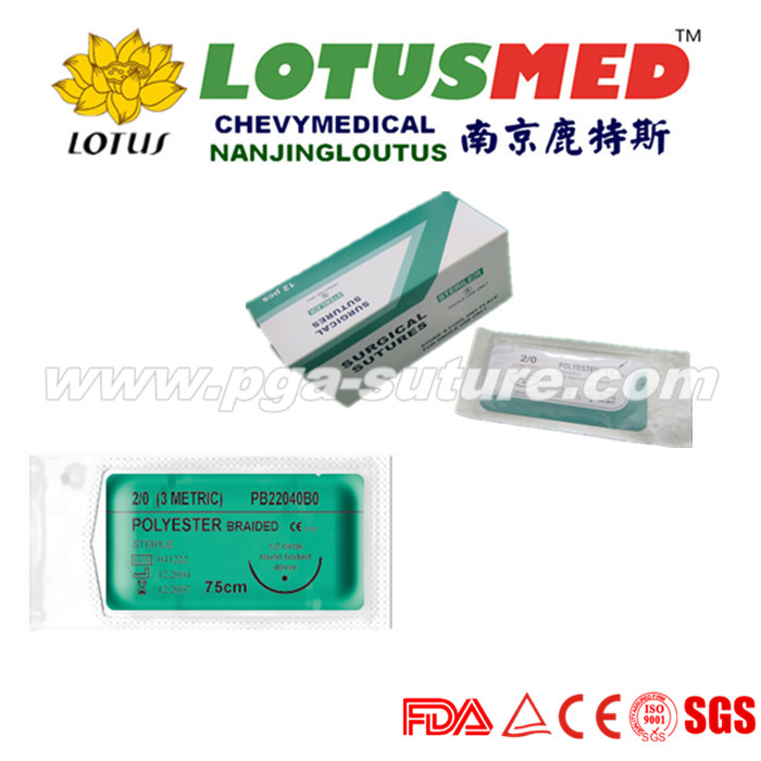 LOTUSMED Braun Polyester Braided Suture