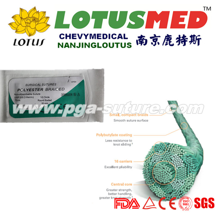 LOTUSMED Polyester Braided Suture Reel