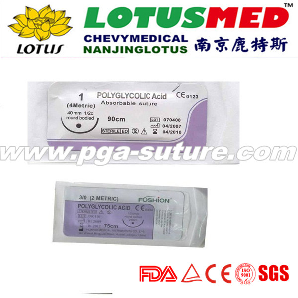 Tyco polyglycolic acid suture