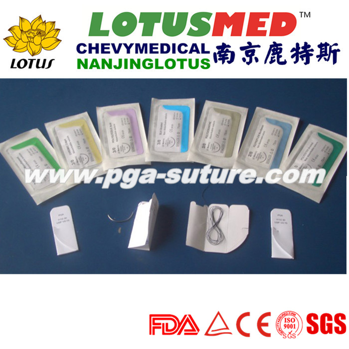 LOTSMED Disposable Plain Catgut Suture With Needle