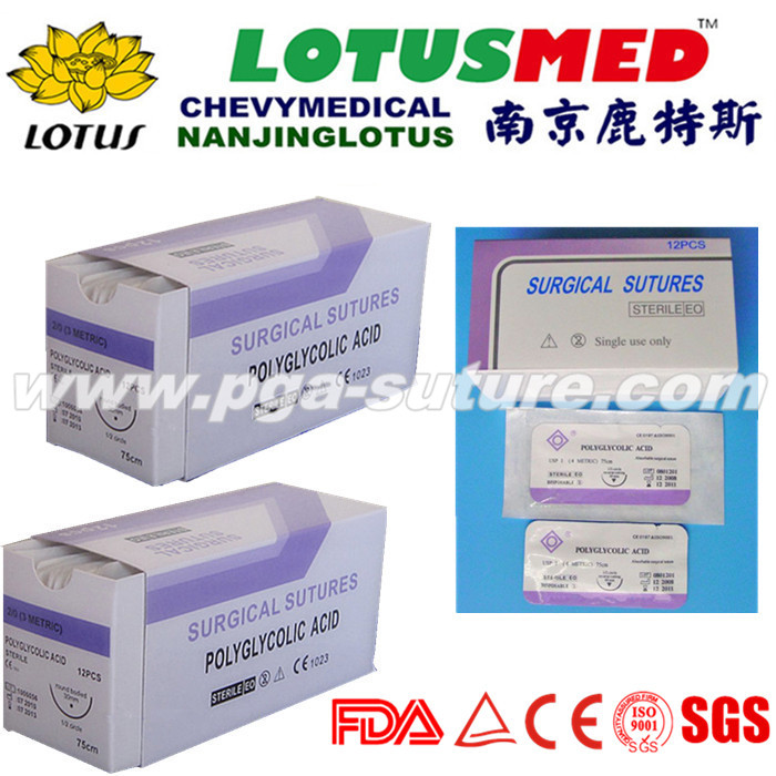 Medical Polyglycolic Acid Rapid Suture Of High Qua...