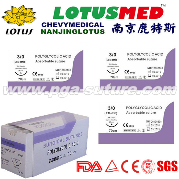 High Quality Polyglycolic Acid Rapid Suture
