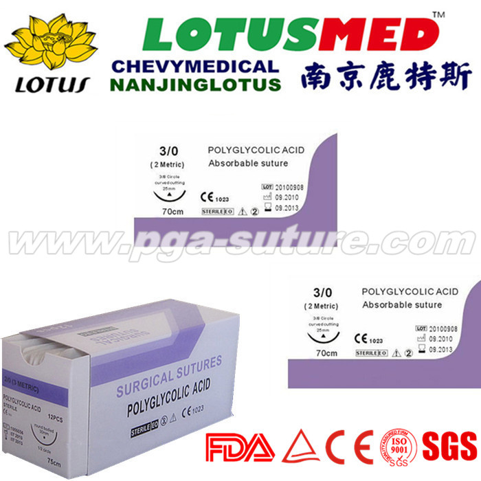 High Quality Medical Polyglycolic Acid Rapid Sutur...