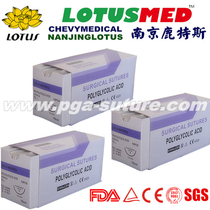 High Quality Polyglycolic Acid Rapid Suture With N...