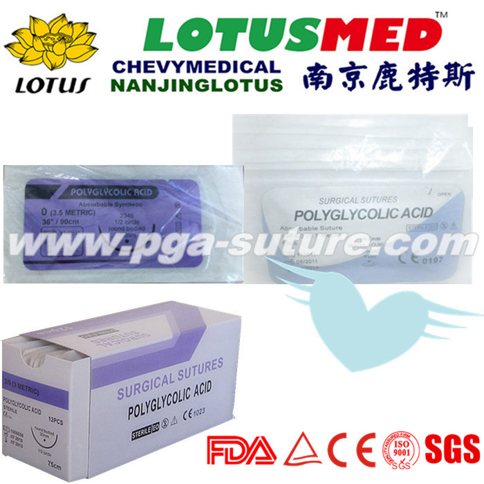 High Quality Human Use Polyglycolic Acid Rapid Sut...